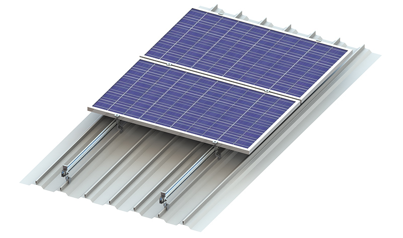 Solar panel rooftop mounting clamp solution